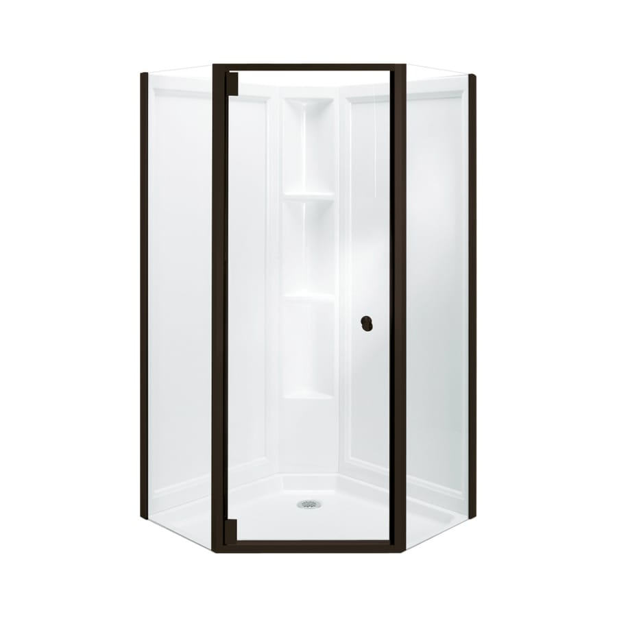Sterling Solitaire 36.125-in W x 72-1/4-in H Frameless Neo-Angle Shower Door