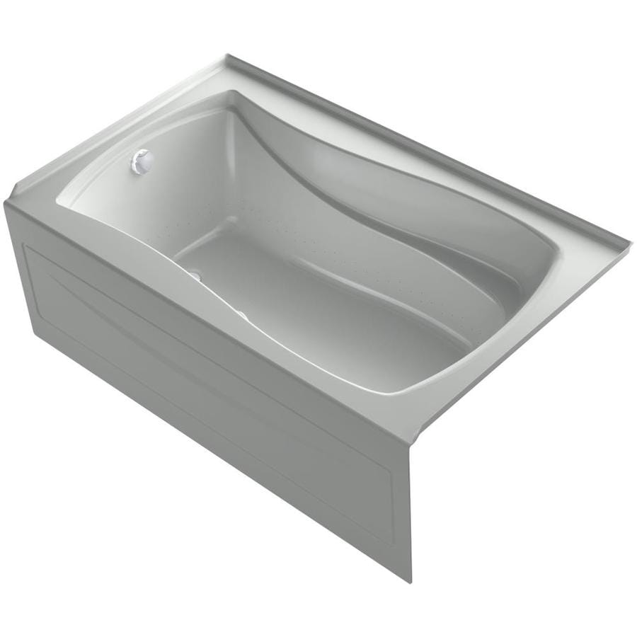 KOHLER Mariposa 60-in L x 36-in W x 21.25-in H Sandbar Acrylic Hourglass In Rectangle Alcove Air Bath
