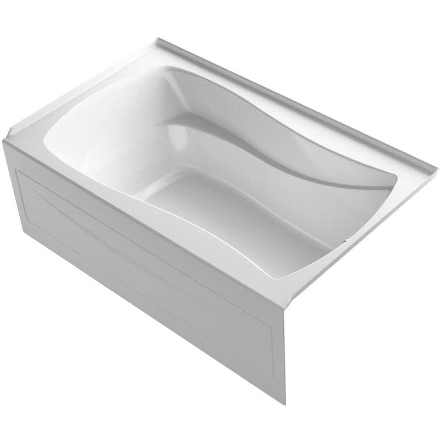 KOHLER Mariposa 60-in White Acrylic Alcove Air Bath with Left-Hand Drain