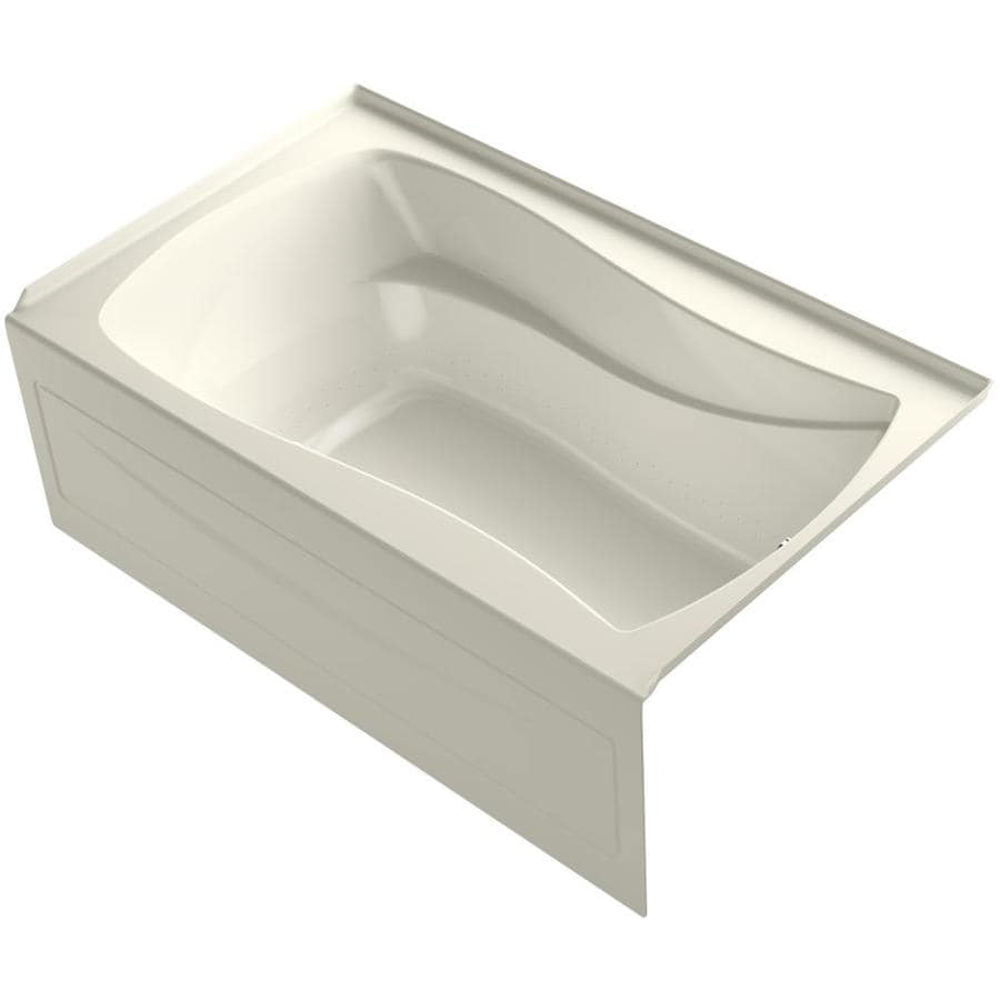 KOHLER Mariposa 60-in Biscuit Acrylic Alcove Air Bath with Right-Hand Drain