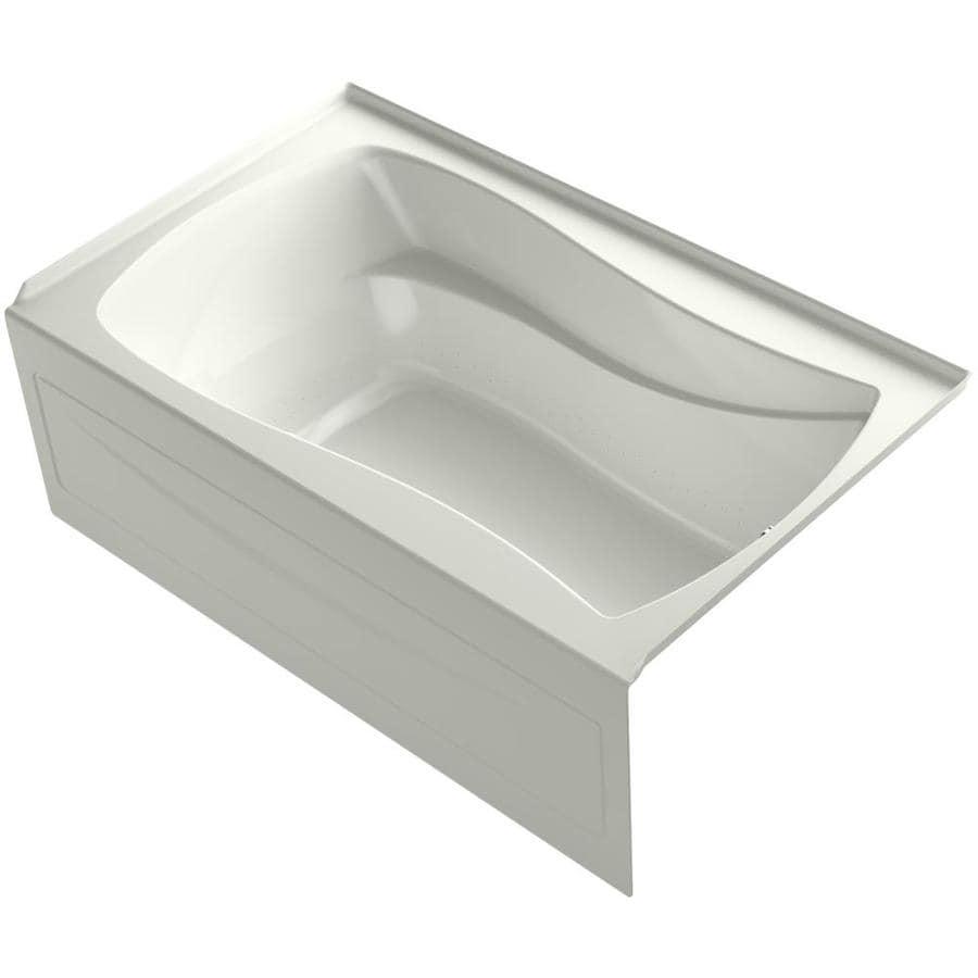 KOHLER Mariposa 60-in Dune Acrylic Alcove Air Bath with Right-Hand Drain