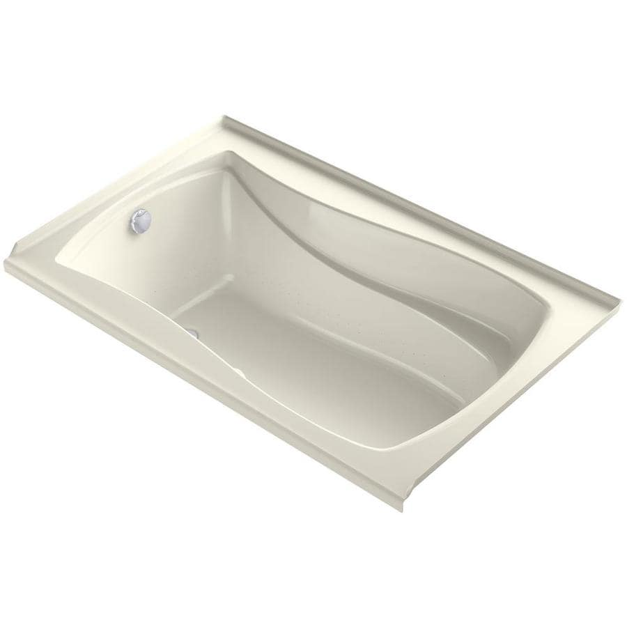 KOHLER Mariposa 60-in Biscuit Acrylic Drop-In Air Bath with Right-Hand Drain