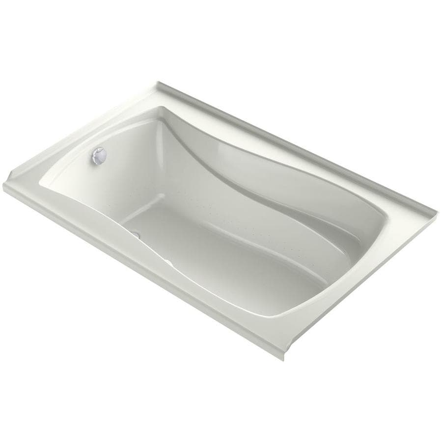 KOHLER Mariposa 60-in Dune Acrylic Drop-In Air Bath with Right-Hand Drain
