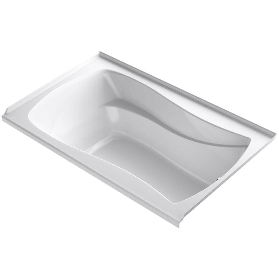 KOHLER Mariposa 60-in White Acrylic Drop-In Air Bath with Right-Hand Drain