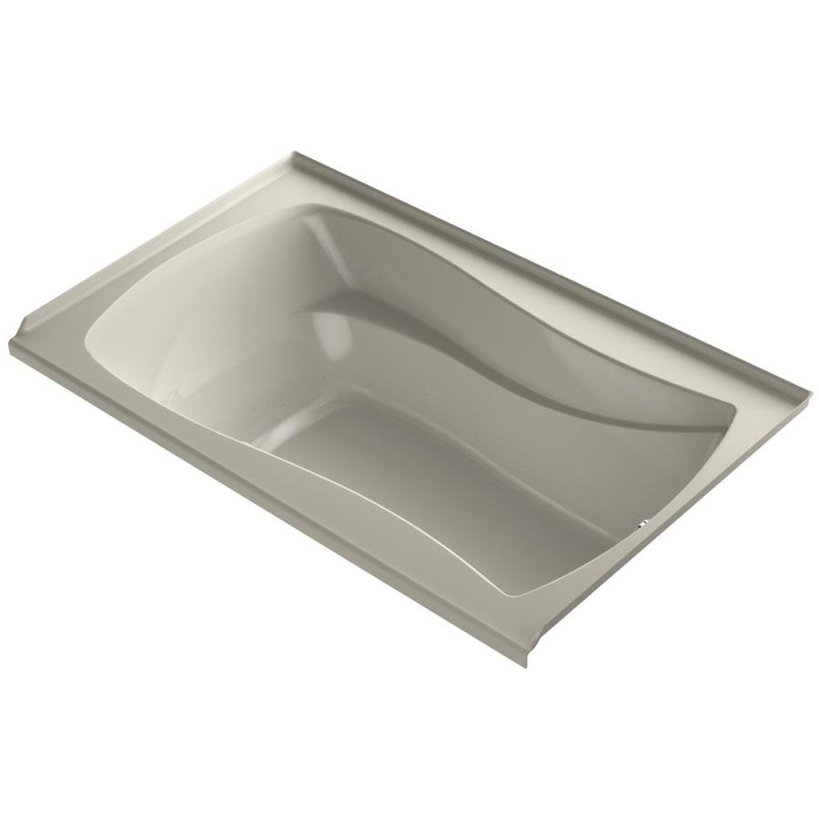 KOHLER Sunward 72-in Sandbar Acrylic Drop-In Air Bath with Reversible Drain