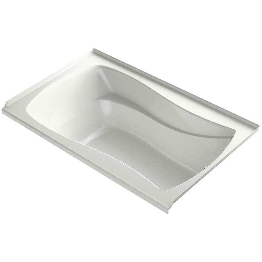 KOHLER Sunward 72-in Dune Acrylic Drop-In Air Bath with Reversible Drain