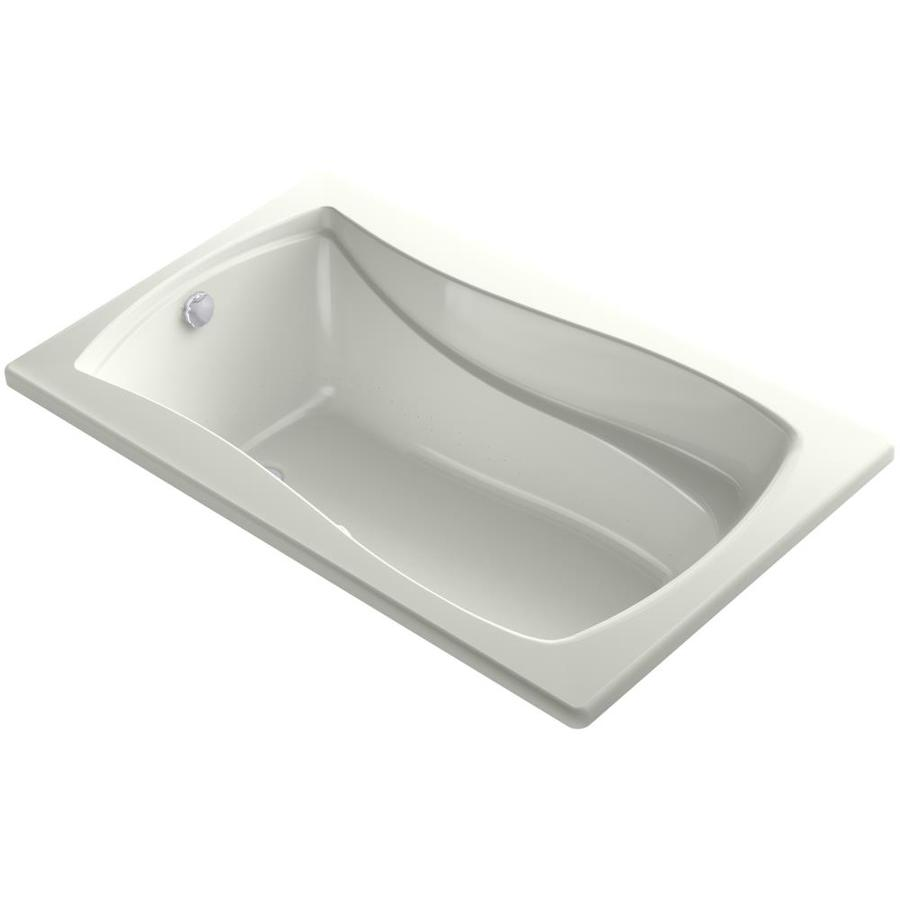 KOHLER Mariposa 60-in Dune Acrylic Drop-In Air Bath with Reversible Drain