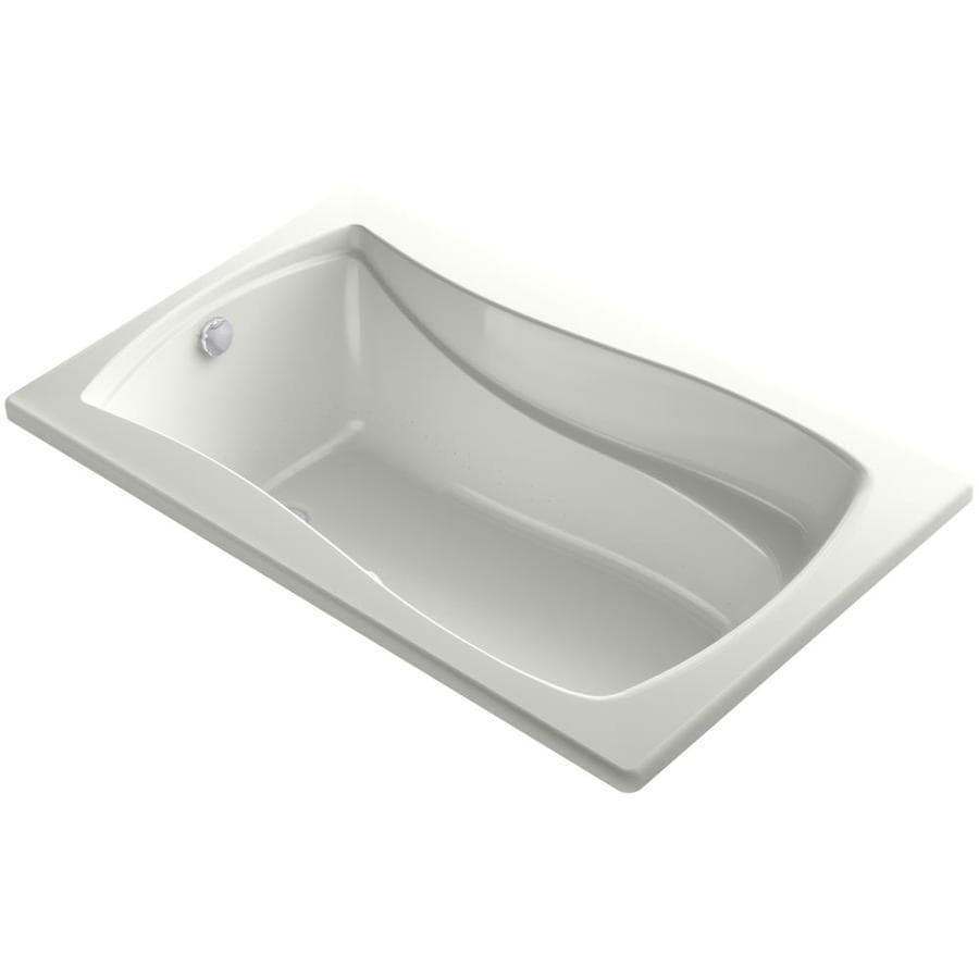 KOHLER Mariposa 60-in L x 36-in W x 20-in H Dune Acrylic Rectangular Drop-in Air Bath
