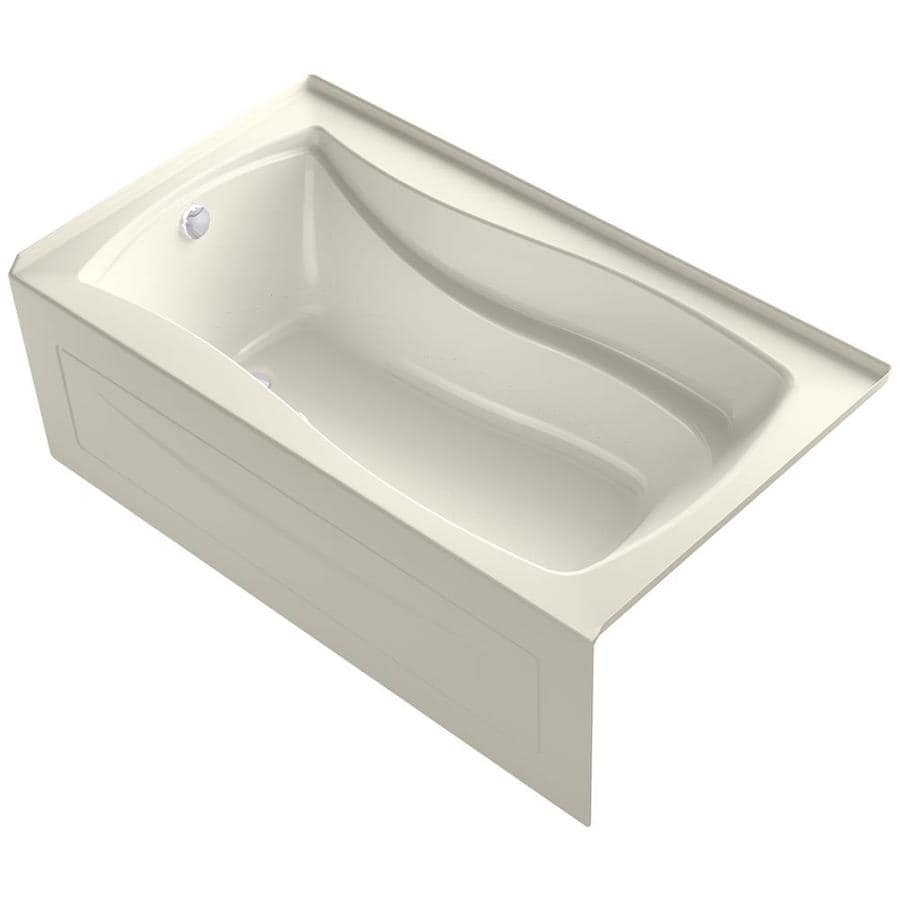 KOHLER Mariposa 66-in Biscuit Acrylic Drop-In Air Bath with Left-Hand Drain