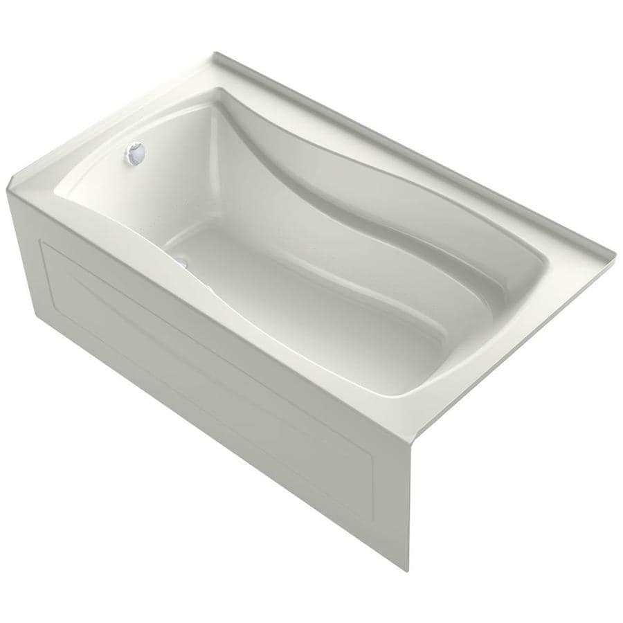 KOHLER Mariposa 66-in Dune Acrylic Drop-In Air Bath with Left-Hand Drain