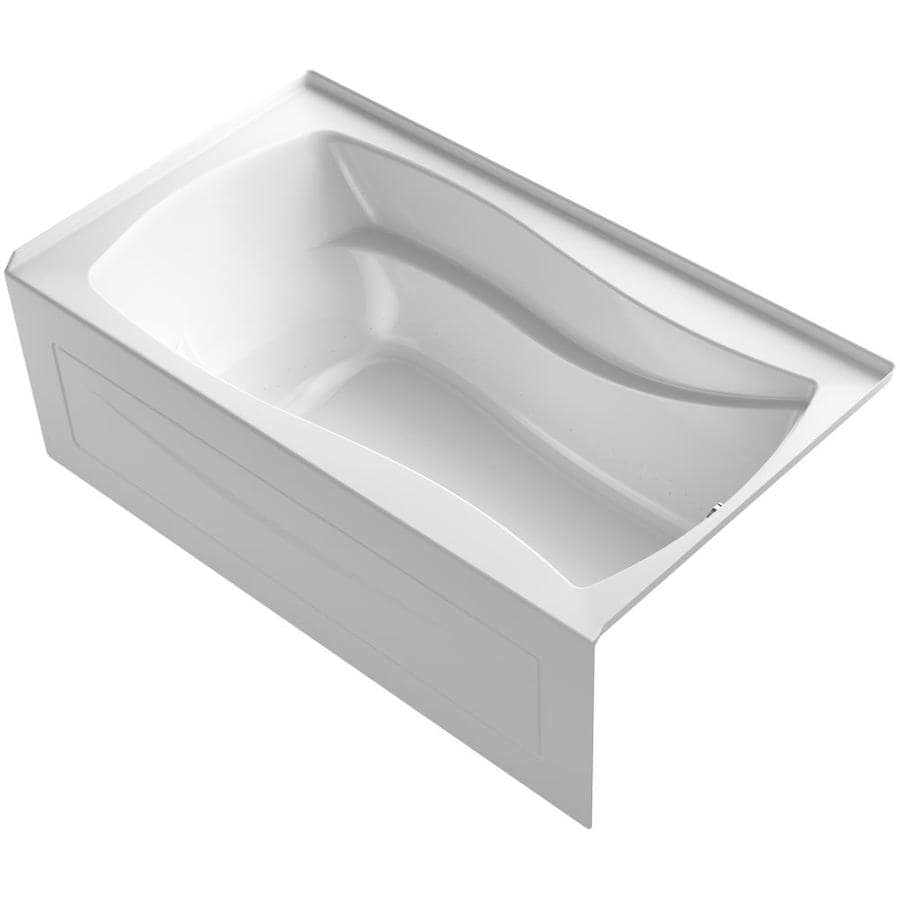 KOHLER Mariposa 66-in White Acrylic Drop-In Air Bath with Left-Hand Drain