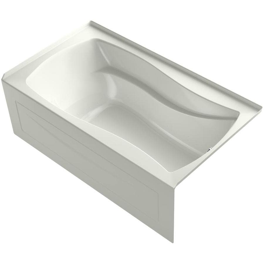 KOHLER Mariposa 66-in Dune Acrylic Alcove Air Bath with Left-Hand Drain