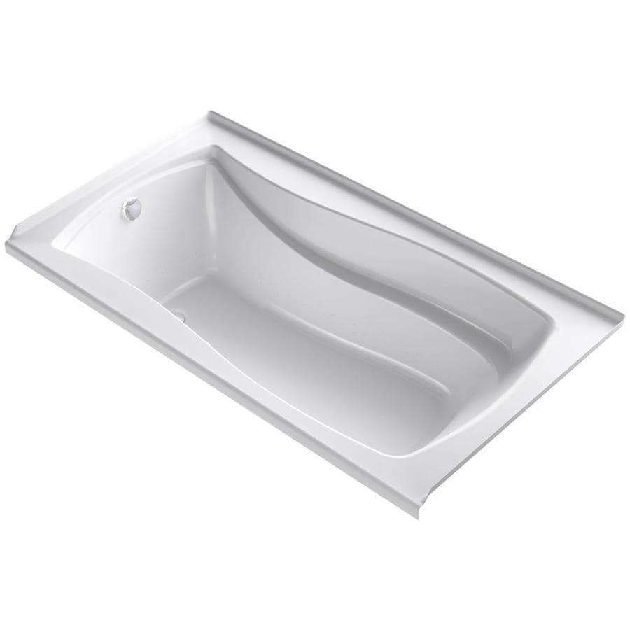 KOHLER Mariposa 66-in L x 36-in W x 21.25-in H White Acrylic Rectangular Alcove Air Bath