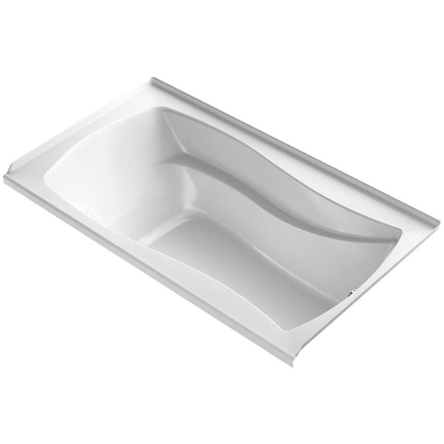 KOHLER Mariposa 66-in White Acrylic Alcove Air Bath with Left-Hand Drain