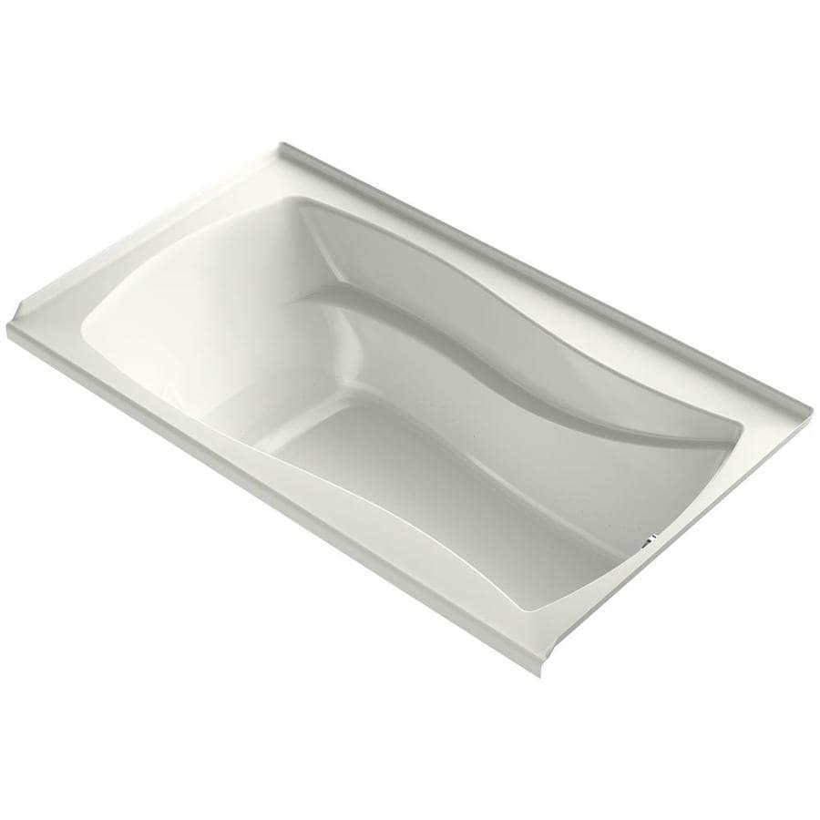 KOHLER Mariposa 66-in Dune Acrylic Alcove Air Bath with Right-Hand Drain