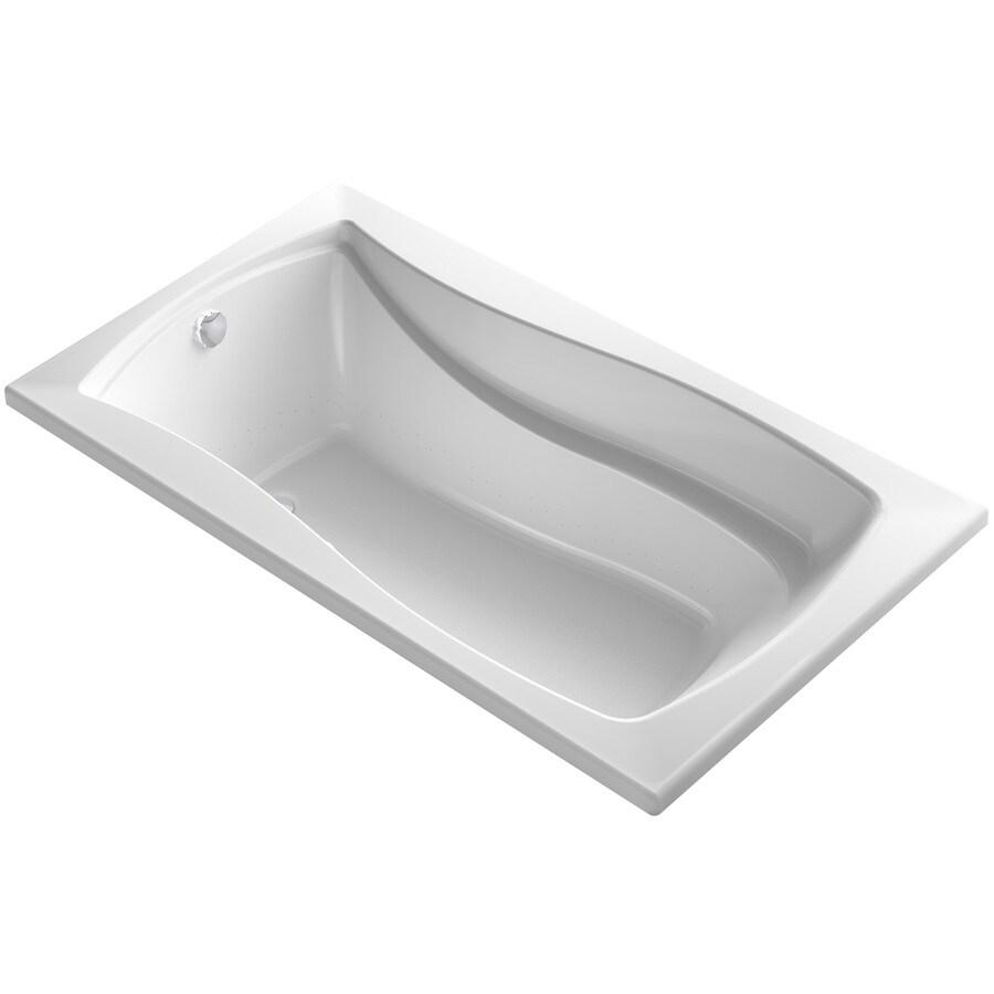 KOHLER Mariposa 66-in White Acrylic Alcove Air Bath with Reversible Drain