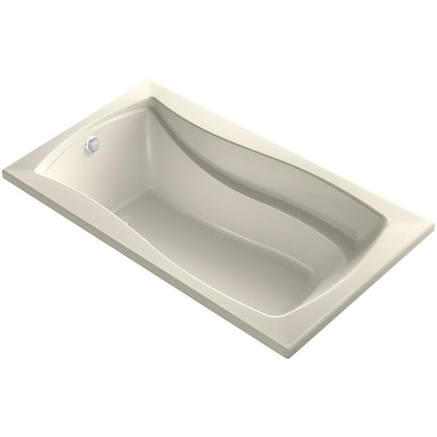 KOHLER Mariposa 66.0000-in L x 36.0000-in W x 20.0000-in H Almond Acrylic Rectangular Alcove Air Bath