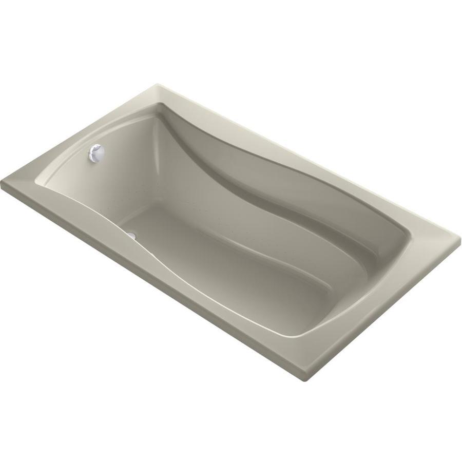 KOHLER Mariposa 66-in L x 36-in W x 20-in H Sandbar Acrylic Rectangular Alcove Air Bath