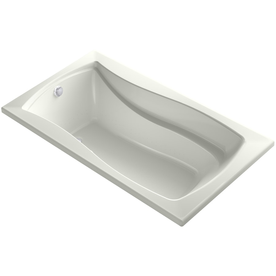 KOHLER Mariposa 66-in Dune Acrylic Alcove Air Bath with Reversible Drain