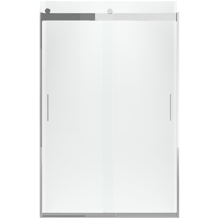 KOHLER Levity 74-in H x 26-in W Crystal Clear Shower Glass Panel