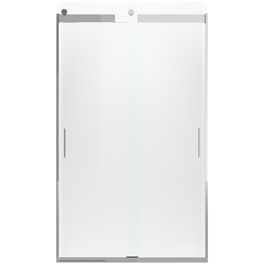 KOHLER Levity 82-in H x 26-in W Crystal Clear Shower Glass Panel