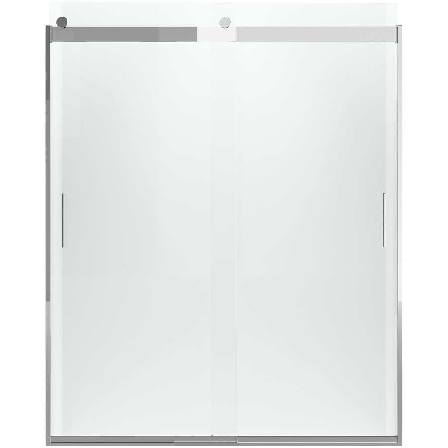 KOHLER Levity 74-in H x 31.5-in W Crystal Clear Shower Glass Panel