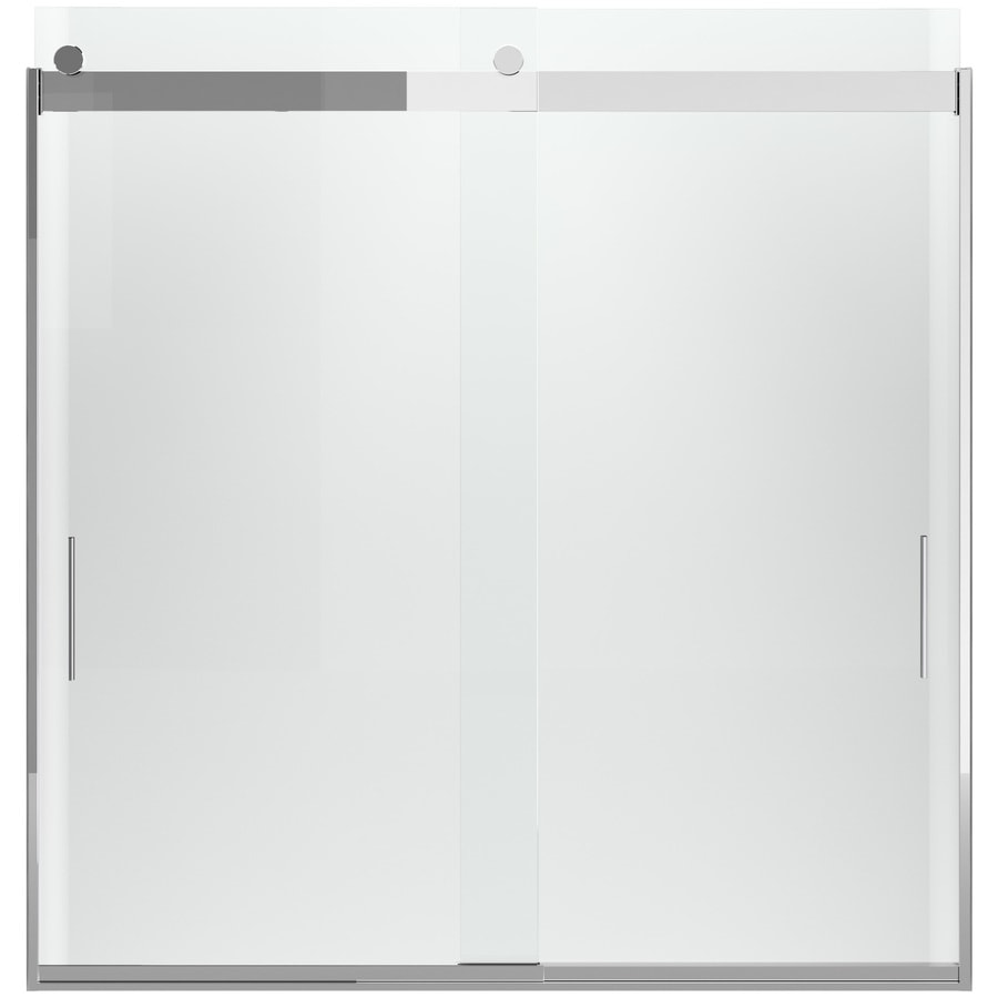 KOHLER Levity 62-in H x 31-in W Crystal Clear Shower Glass Panel