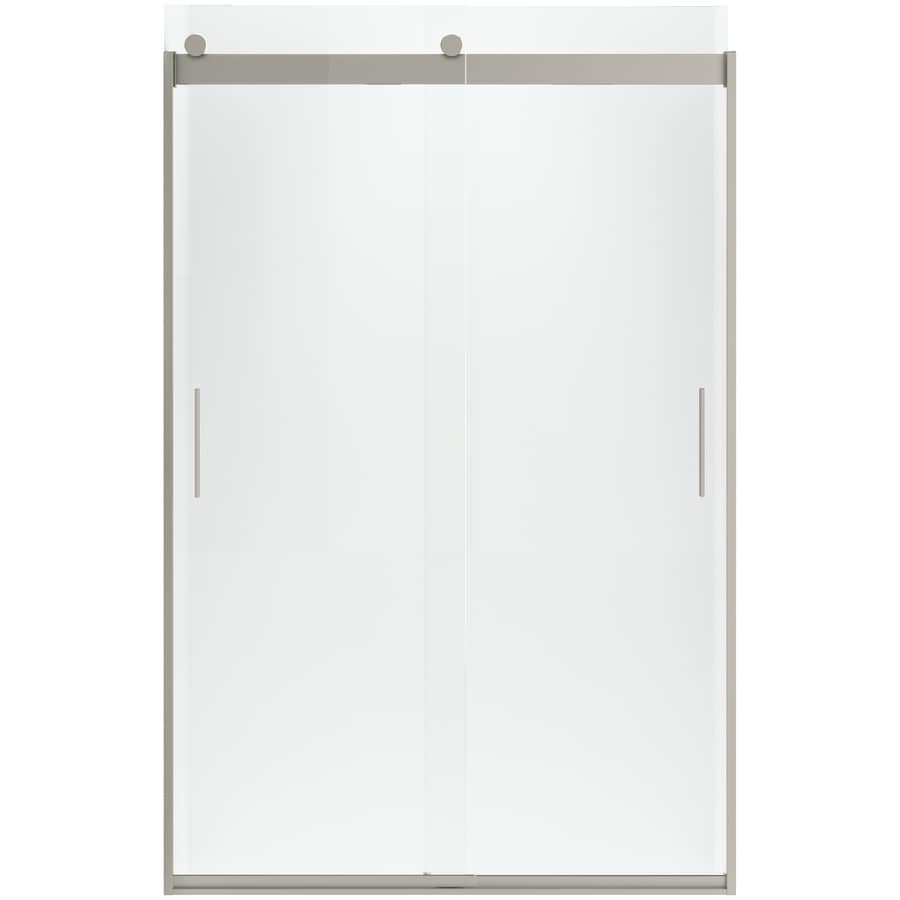 KOHLER Levity 74-in H x 22-in W Crystal Clear Shower Glass Panel