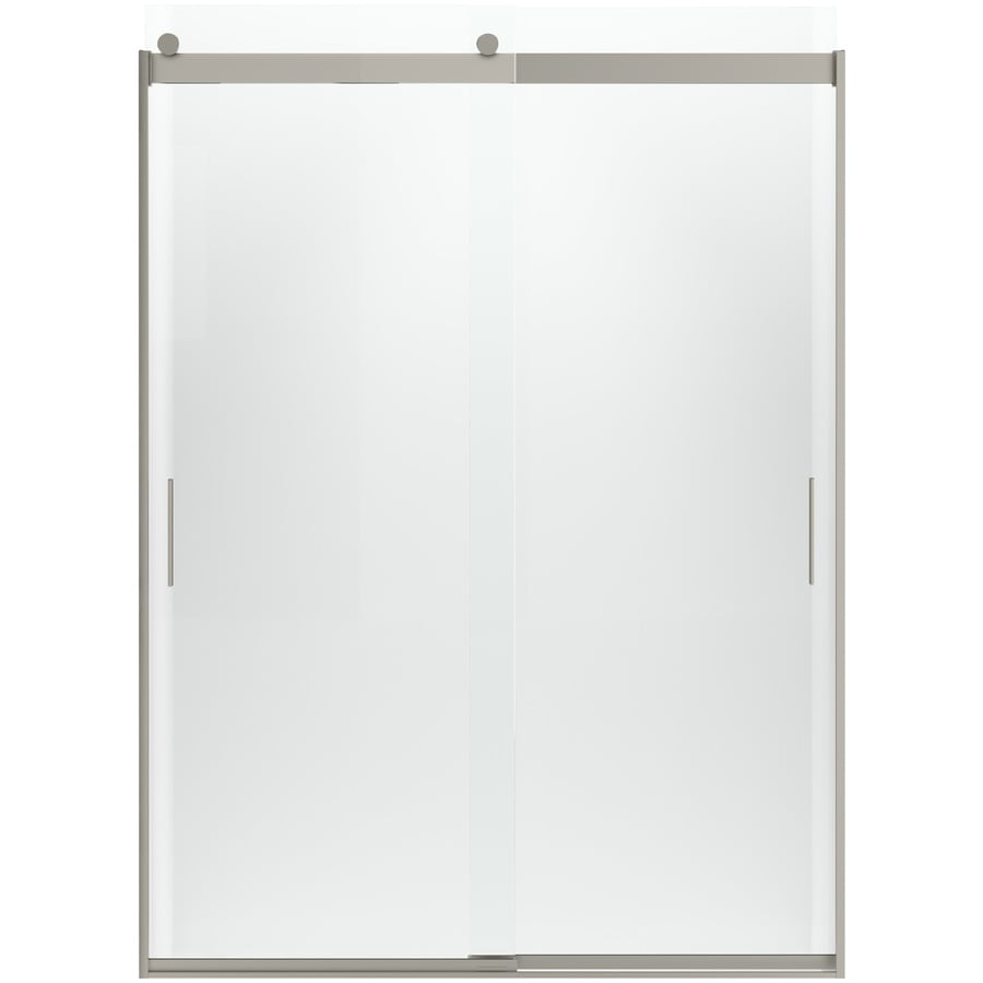 KOHLER Levity 81.75-in H x 31.5625-in W Crystal Clear Shower Glass Panel