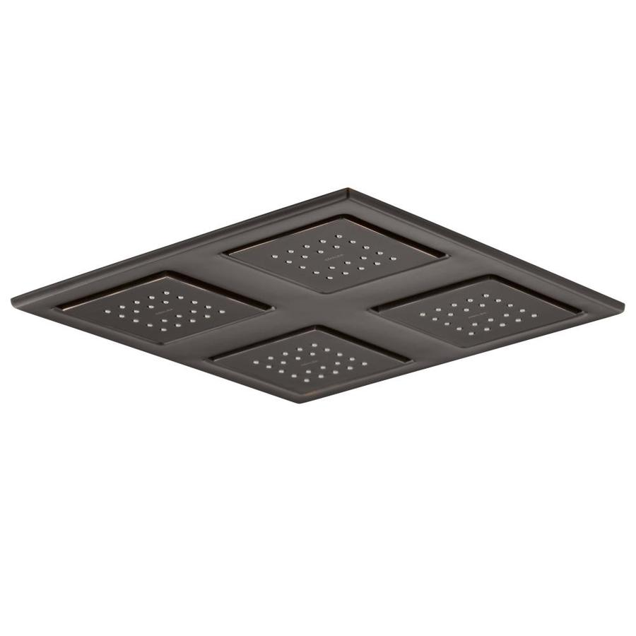 KOHLER Watertile 9.875-in 1.0-GPM (3.8-LPM) Oil-Rubbed Bronze 2-Spray Rain Showerhead