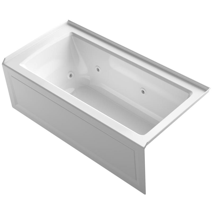 KOHLER Archer White Acrylic Rectangular Whirlpool Tub (Common: 30-in x 60-in; Actual: 19-in x 30-in x 60-in)