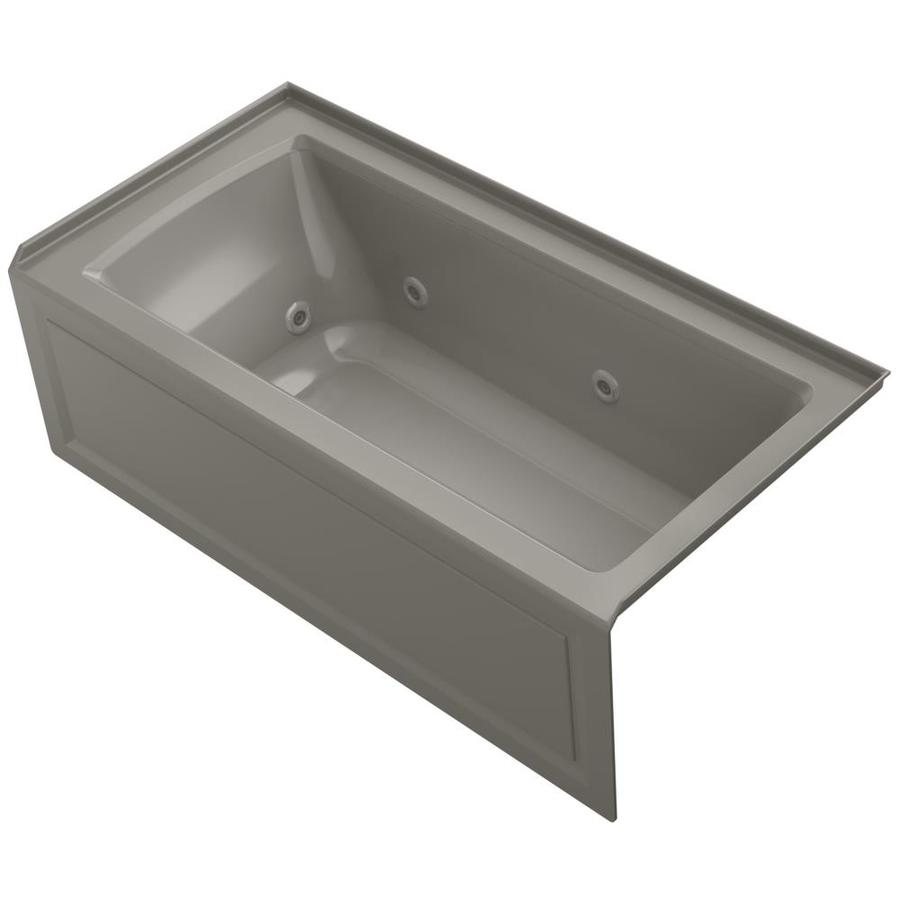 KOHLER Archer Cashmere Acrylic Rectangular Whirlpool Tub (Common: 30-in x 60-in; Actual: 19.0000-in x 30.0000-in x 60.0000-in)
