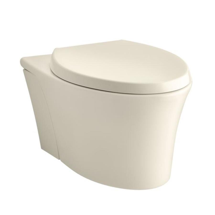 KOHLER Veil Standard Height Almond Wall-Hung Rough-in Elongated Toilet Bowl