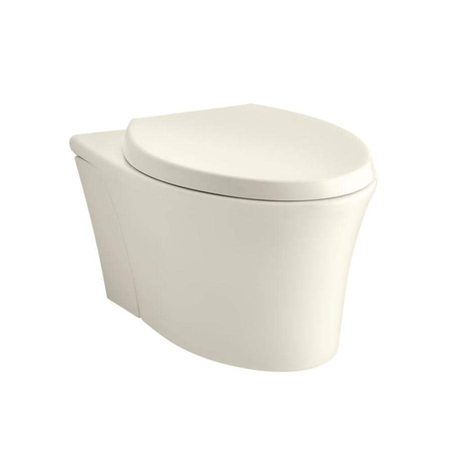 KOHLER Veil Standard Height Biscuit Wall-Hung Rough-in Elongated Toilet Bowl