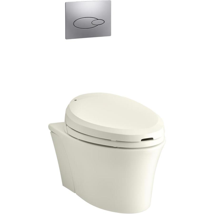 Kohler Veil Biscuit Compact Elongated Wall Hung Toilet Bowl