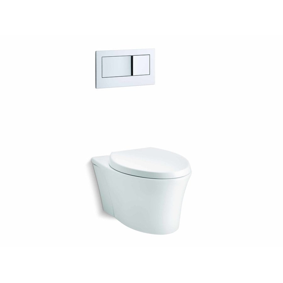 KOHLER Veil 0.8 White WaterSense Dual-Flush Elongated Standard Height 1-Piece Toilet