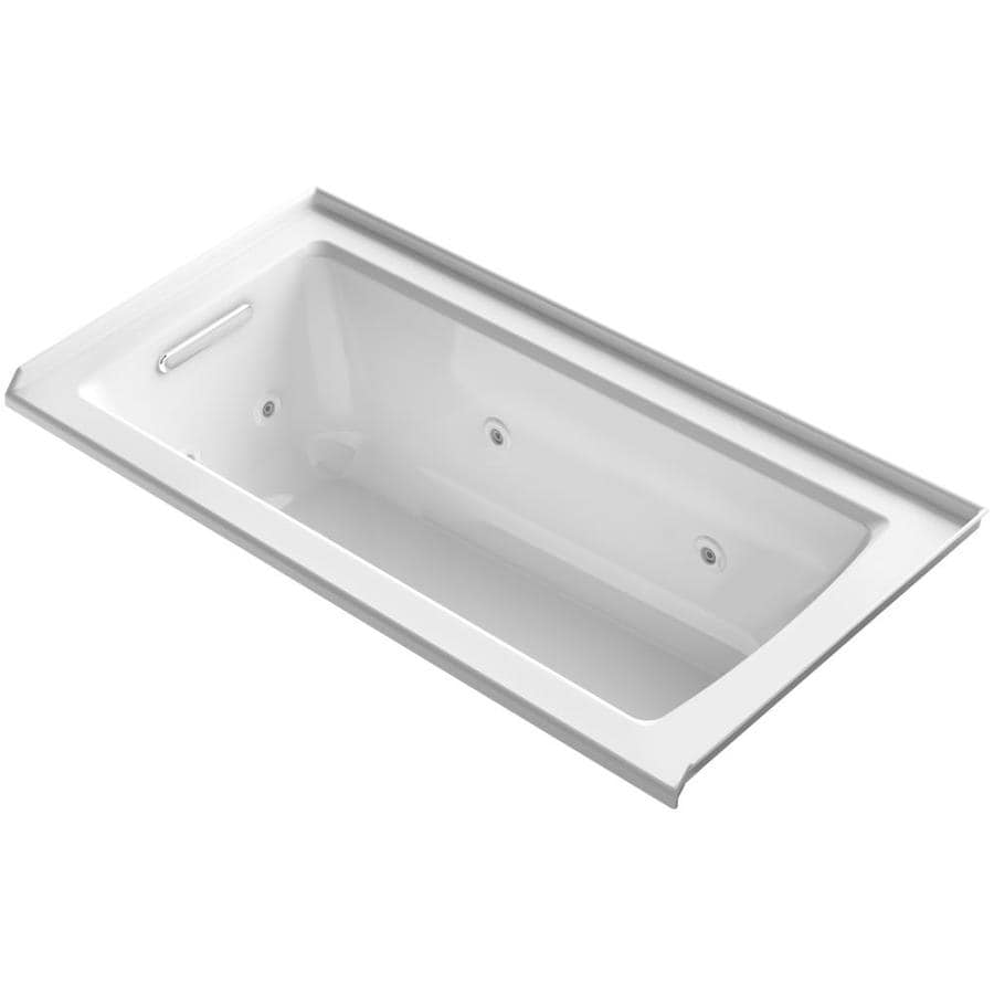 Kohler Archer 60 In White Acrylic Rectangular Left Hand