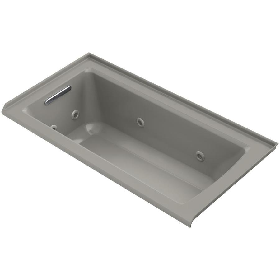 Kohler Archer 60 In Cashmere Acrylic Rectangular Left Hand