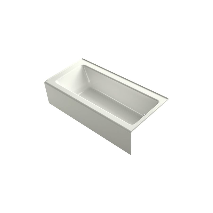 KOHLER Bellwether 66-in Dune Acrylic Drop-In Air Bath with Right-Hand Drain