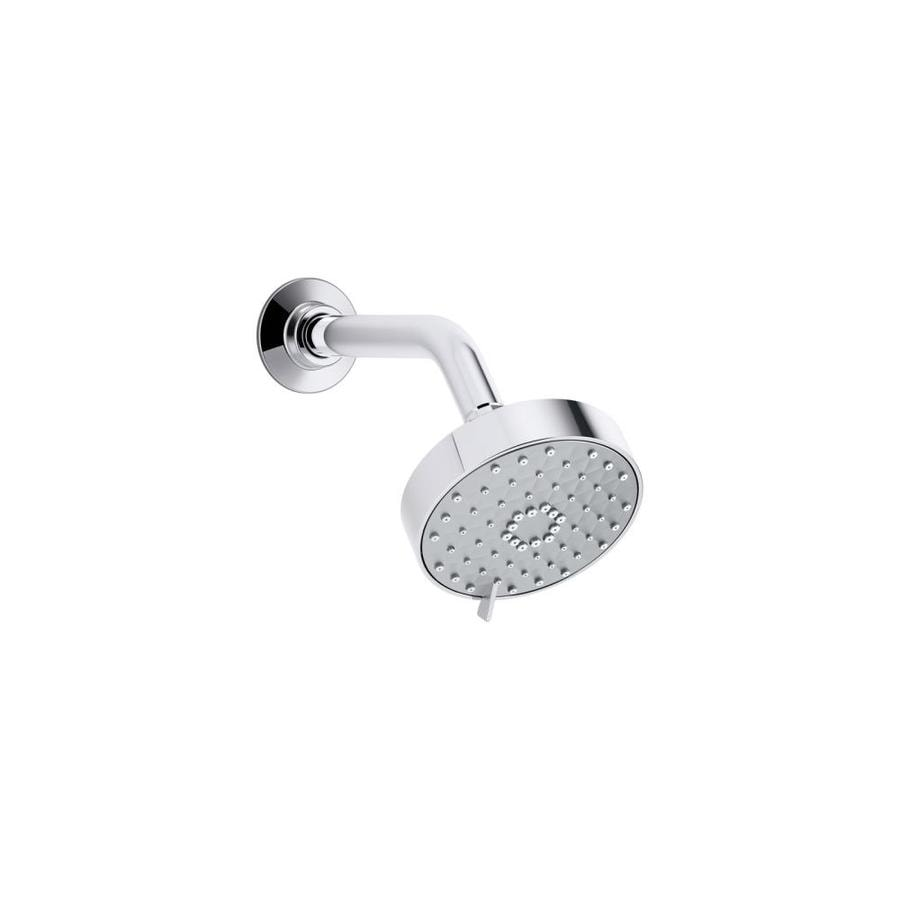 KOHLER Awaken 4.3125-in 2.0-GPM (7.6-LPM) Polished Chrome 3-Spray WaterSense Showerhead