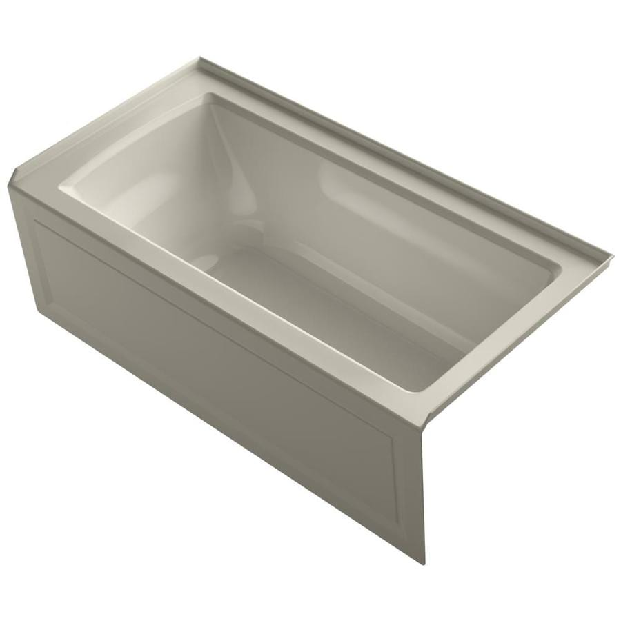 KOHLER Archer Sandbar Acrylic Rectangular Alcove Bathtub with Right-Hand Drain (Common: 30-in x 60-in; Actual: 19-in x 30-in x 60-in)