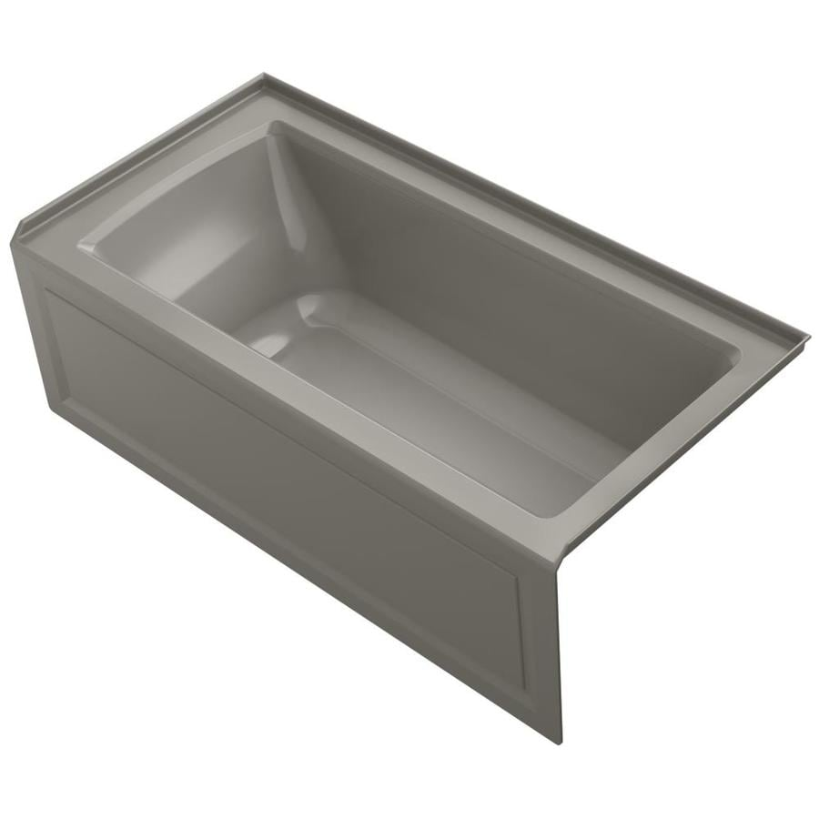 KOHLER Archer 60-in Cashmere Acrylic Alcove Bathtub with Right-Hand Drain