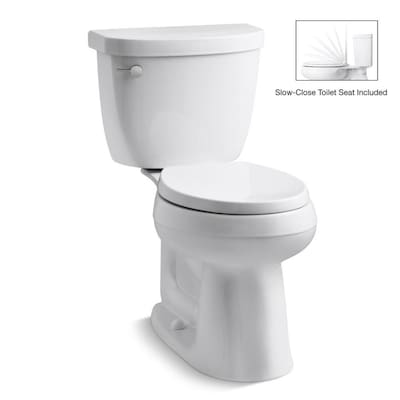 Awesome Cimarron Complete Solution White Watersense Round Chair Height 2 Piece Toilet 12 In Rough In Size Dailytribune Chair Design For Home Dailytribuneorg