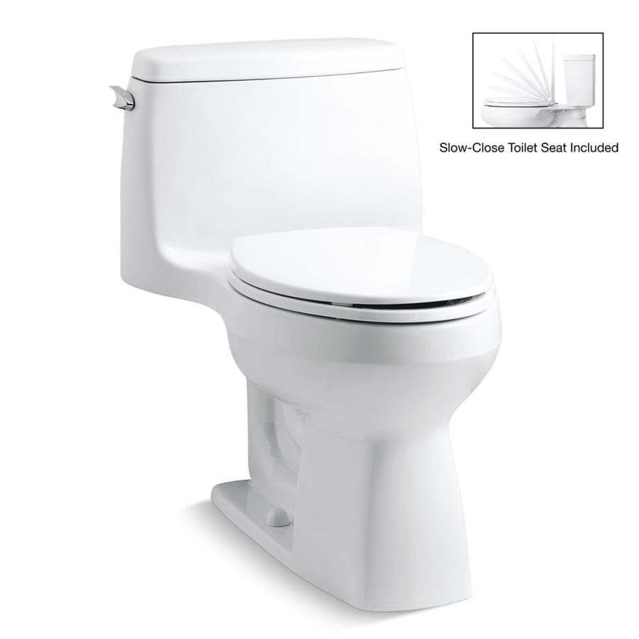 KOHLER Santa Rosa 1.28-GPF (4.85-LPF) White Elongated Chair Height 1-piece Toilet