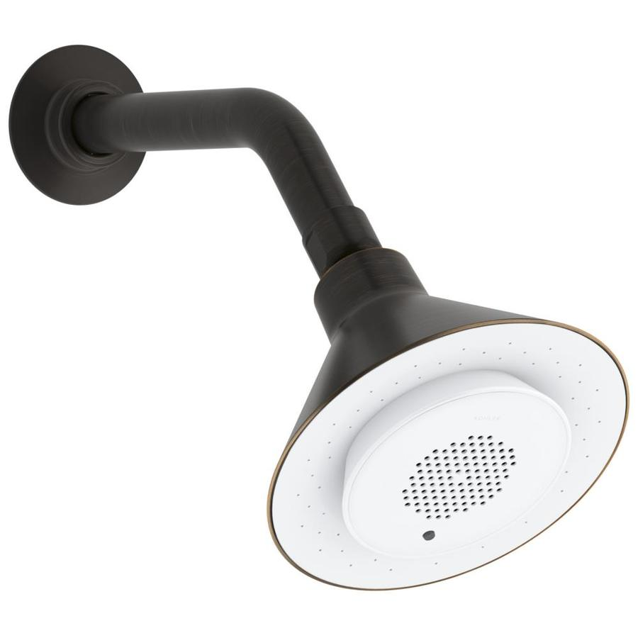 KOHLER Moxie 5-in 2.0-GPM (7.6-LPM) Oil-Rubbed Bronze 1-Spray WaterSense Rain Showerhead