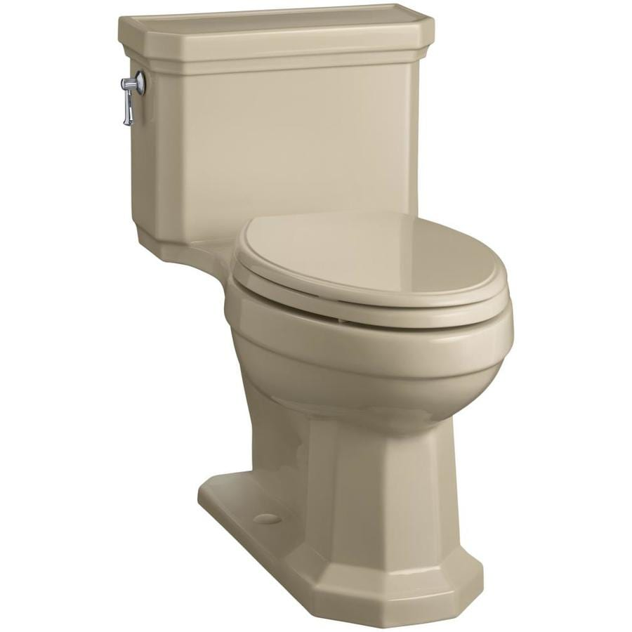 KOHLER Kathryn 1.28-GPF (4.85-LPF) Mexican sand Elongated Chair Height 1-piece Toilet