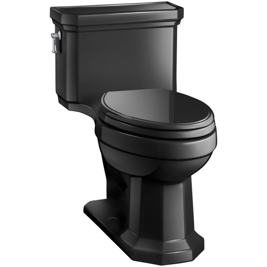 KOHLER Kathryn 1.28-GPF (4.85-LPF) Black black Elongated Chair Height 1-piece Toilet