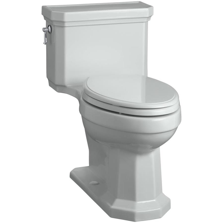 KOHLER Kathryn 1.28 Ice Gray WaterSense Elongated Chair Height 1-Piece Toilet