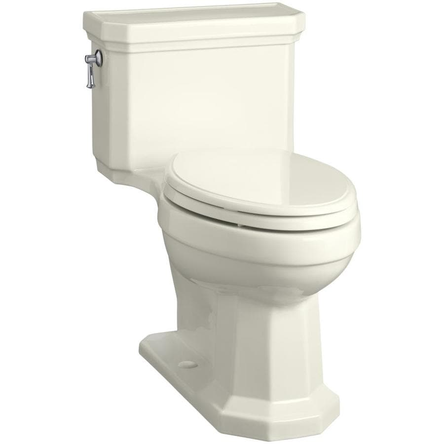 KOHLER Kathryn 1.28-GPF (4.85-LPF) Biscuit Elongated Chair Height 1-piece Toilet