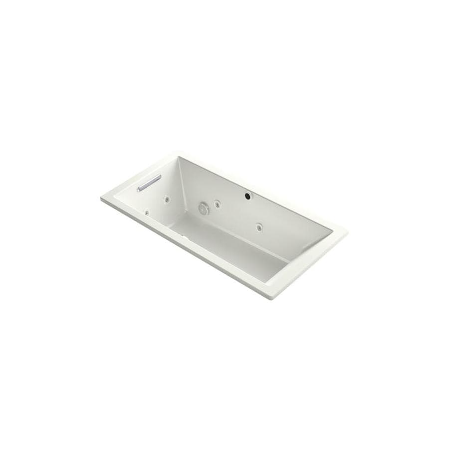KOHLER Underscore 60-in Dune Acrylic Drop-In Air Bath with Reversible Drain